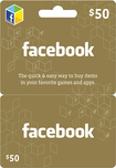 Facebook - $50 Gift Card for Facebook Games and Apps