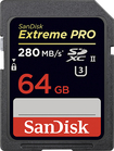 SanDisk - Extreme PRO 64GB SDHC/SDXC Class 3 UHS-II Memory Card - Black/Red