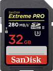 SanDisk - Extreme PRO 32GB SDHC/SDXC Class 3 UHS-II Memory Card - Black/Red