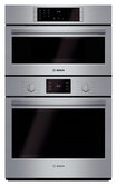 """Bosch - 500 Series 30"""" Single Electric Convection Wall Oven with Built-In Microwave - Stainless-Steel"""