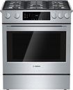 "Bosch - 800 Series 30"" Self-Cleaning Slide-In Gas Convection Range - Stainless-Steel"