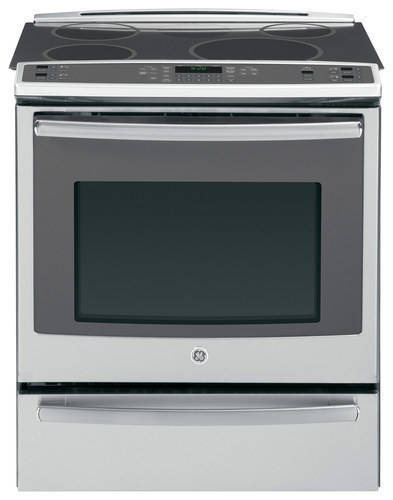 GE - Profile Series 30 Self-Cleaning Slide-In Electric Convection Induction Range - Stainless Steel