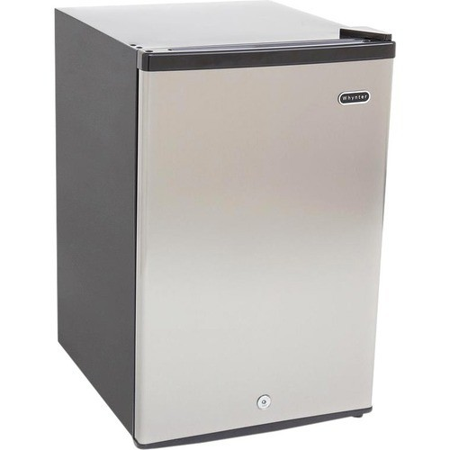 Whynter - 2.1 cu. ft. Energy Star Stainless Steel Upright Freezer with Lock - Black, Stainless Steel