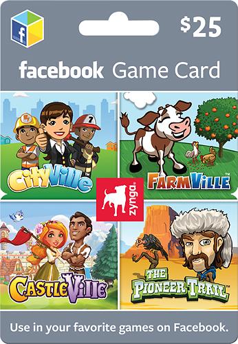 Zynga - $25 Gift Card for Zynga Games on Facebook