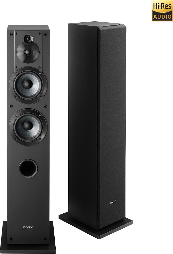 """Sony - Core Series Dual 5"""" 3-Way Floorstanding Speaker (Each) - Black"""