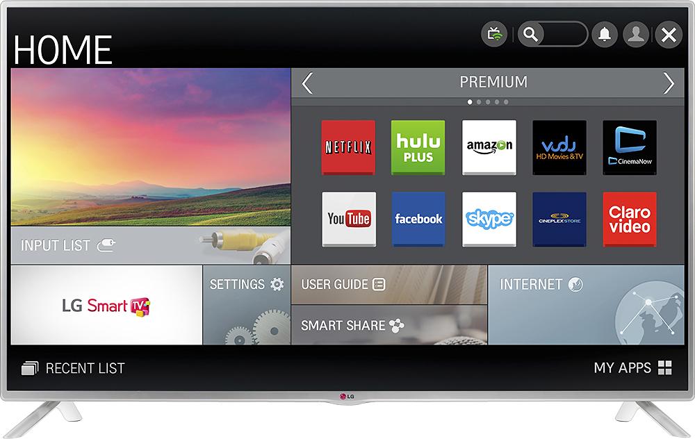 """LG - 42"""" Class (41-9/10"""" Diag.) - LED - 1080p - Smart - HDTV - Silver"""