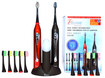 Pursonic - Dual-Handle Rechargeable Sonic Toothbrush - Black/Red