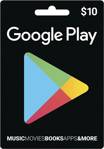 Google Play - $10 Gift Card