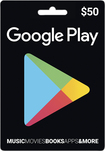 Google Play - $50 Gift Card - Black