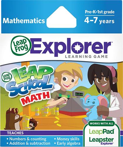 LeapFrog - LeapSchool Math Cartridge for LeapPad and Leapster Explorer - Multi