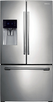 Samsung - 25.6 Cu. Ft. French Door Refrigerator with Thru-the-Door Ice and Water - Stainless Platinum
