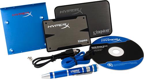 Kingston Technology - HyperX 3K 240GB Internal Serial ATA III Solid State Drive for Laptops/Desktops - Black