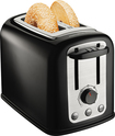 Hamilton Beach - SmartToast 2-Slice Wide-Slot Toaster - Black