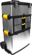 Trademark Games - Trademark Tools Massive & Mobile 3-Part Tool Chest - Black