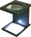 Trademark Games - Trademark Tools Foldable Magnifier with LED Lights - Black