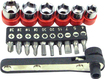 Trademark Games - Trademark Tools 17-Piece Deluxe Mini Ratchet Screwdriver Set - Black