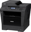 Brother - Network-Ready Wireless Black-and-White All-In-One Printer - Black