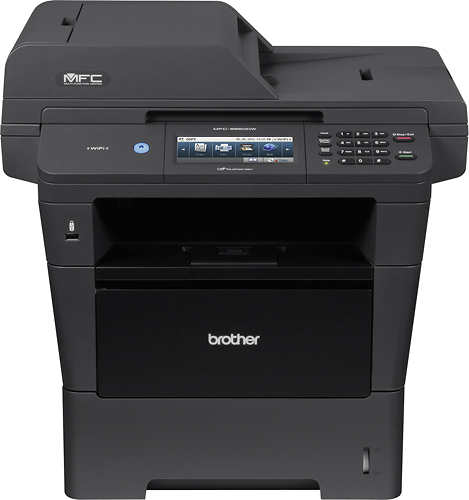 Brother - MFC-8950DW Wireless Black-and-White All-In-One Printer - Black