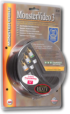 Monster Cable Monster Video 3 4m Component Video Cable 6015046