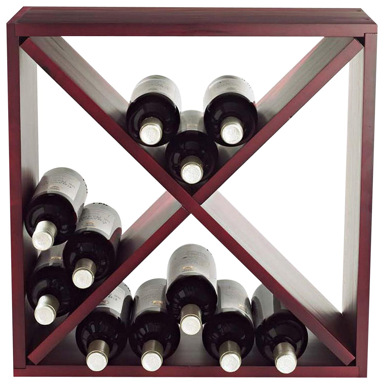 Wine Enthusiast - 24-bottle Wine Rack - Mahogany
