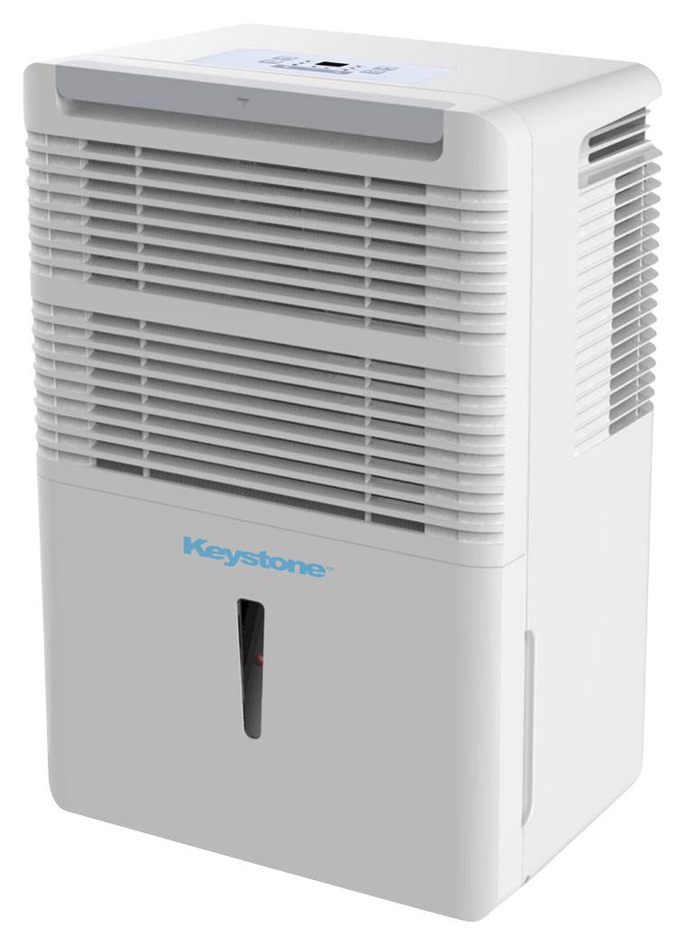 Keystone - 50-Pint Dehumidifier - White