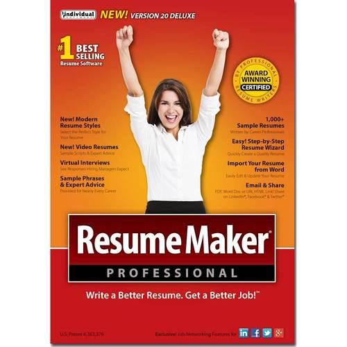 resumemaker professional deluxe 20 windows larger front