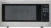 Sharp - 2.2 Cu. Ft. Full-Size Microwave - Stainless