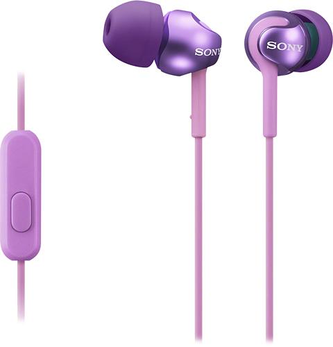 Sony - EX Series Earbud Headphones - Violet