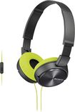 Sony - ZX Series Over-the-Ear Headphones - Black/Fluorescent Yellow