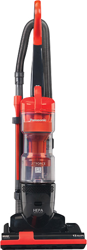 Panasonic - Jet Force HEPA Bagless Upright Vacuum - Orange Octane/Black