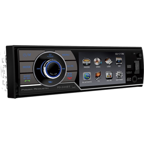 Power Acoustik - Car DVD Player - 3.4 LCD - 68 W RMS - Single DIN