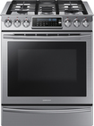 "Samsung - 30"" Self-Cleaning Slide-In Gas Convection Range - Stainless-Steel"