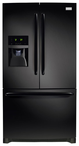 Frigidaire - 27.6 Cu. Ft. French Door Refrigerator - Black