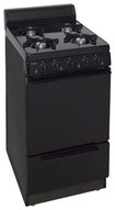 "Premier - 20"" Freestanding Gas Range - Black"
