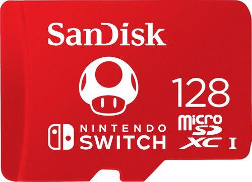 Sandisk 128gb Microsdxc Memory Card For Nintendo Switch Black