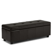 Simpli Home - Castleford Collection Bonded Leather Storage Ottoman
