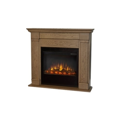 Real Flame - Slim Wall Mountable Electric Fireplace - Indoor Usage - Heating Capacity 1.38 kW - Blonde Oak