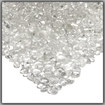 Real Flame - Fire Glass Filler Pebbles - Ice Clear