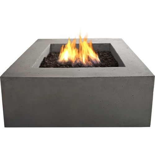 Real Flame - Baltic Gas Fireplace - Outdoor Usage - Heating Capacity 14.65 kW - Glacier Gray