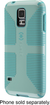 Speck - CandyShell Grip Case for Samsung Galaxy S 5 Cell Phones - Green/Blue