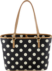 "Studio C - Hot to Trot Micro Tote for Most Tablets Up to 10"" - Black/White"