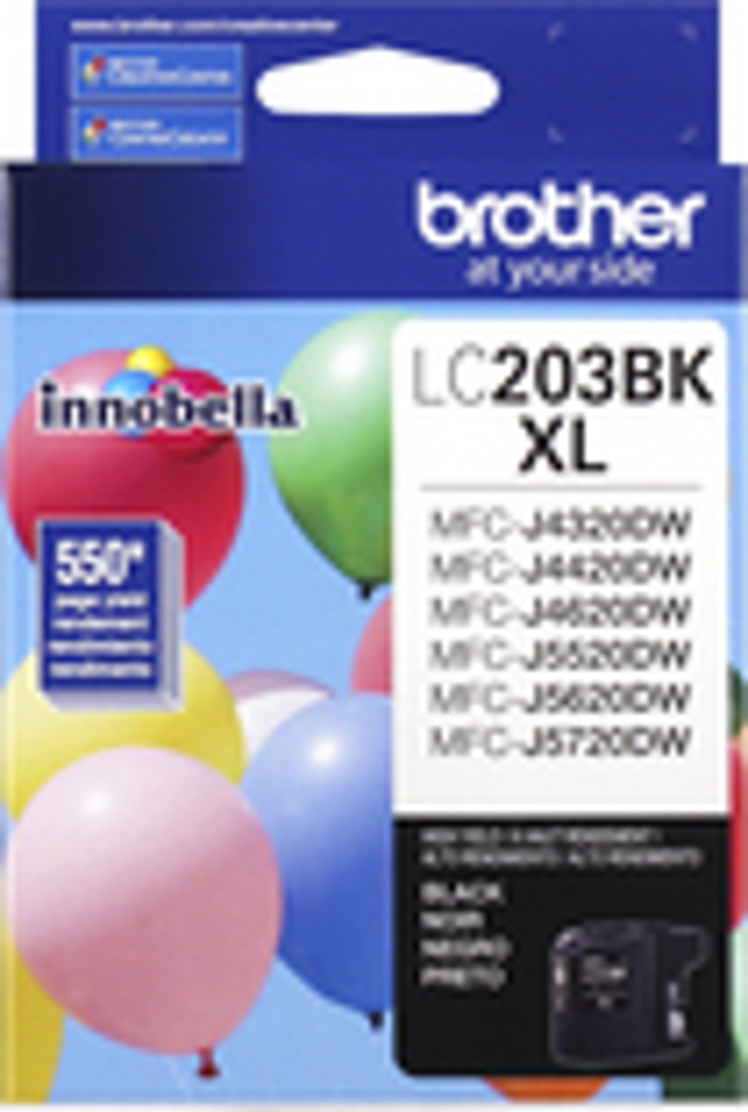 Brother - Lc203bk Xl High-yield Ink Cartridge - Black