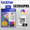Brother - LC205CL XL 3-Pack High-Yield Ink Cartridges - Cyan/Magenta/Yellow