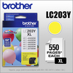 Brother - LC203Y XL High-Yield Ink Cartridge - Yellow