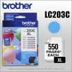 Brother - LC203C XL High-Yield Ink Cartridge - Cyan