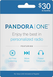 Pandora - 6-Month Pandora One Subscription Card - Blue