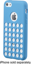 Insignia™ - Perforated Case for Apple® iPhone® 5c - Blue