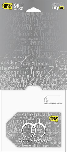 Best Buy Gc - $30 Silver Wedding Gift Card