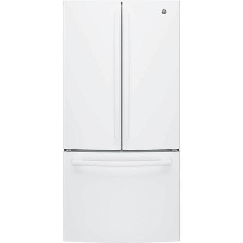 Ge 186 Cu Ft French Door Counter Depth Refrigerator White