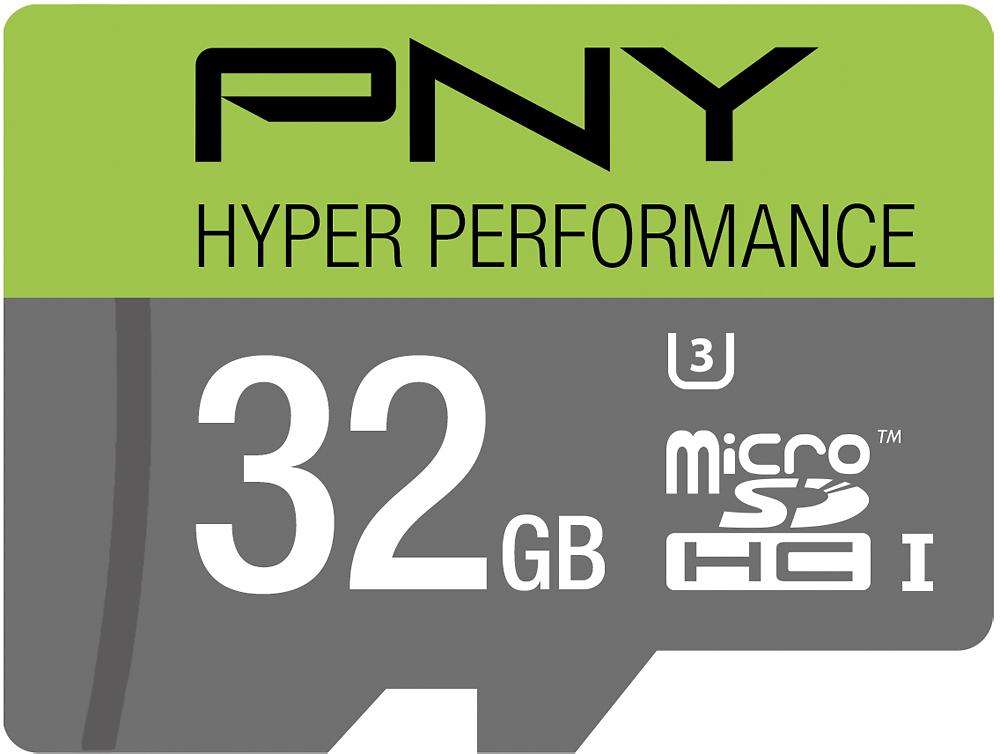 PNY - 32GB microSDHC Class 10 UHS-I/U3 Memory Card - Multi